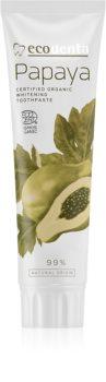 Ecodenta Cosmos Organic Papaya отбеливающая зубная паста с фтором