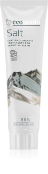Ecodenta Cosmos Organic Salt pasta de dinti pentru dinti sensibili fara flor