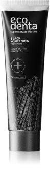 Ecodenta Expert Black Whitening dentífrico branqueador com carvão preto sem fluór