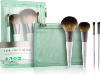 EcoTools On-The-Go Style Brush Set III. (For Travelling) for Women