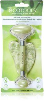 EcoTools Jade Roller & Gua Sha masážní váleček na obličej a masážní pomůcka