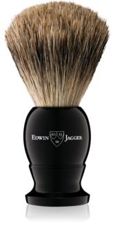 Edwin Jagger Silver Tip Ebony пензлик для гоління