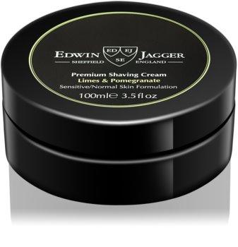 Edwin Jagger Limes & Pomegranate krém na holenie pre zmiešanú pleť