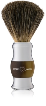Edwin Jagger Best Badger Light Horn & Chrome pennello da barba
