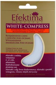 Efektima Institut White-Compress mascarilla de hidrogel para contorno de ojos antiarrugas y antiojeras