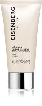 Eisenberg Pure White Massage Crème Lumière krem do masażu twarzy do rozjaśnienia i nawilżenia