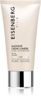 Eisenberg Pure White Massage Crème Lumière Massagecreme für die Haut für hydratisierte und strahlende Haut