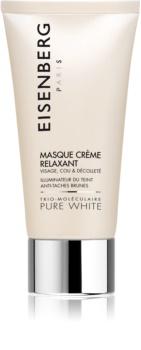 Eisenberg Pure White Masque Crème Relaxant maseczka nawilżająca i rozświetlająca przeciw przebarwieniom skóry