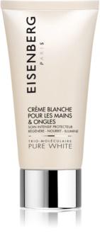 Eisenberg Pure White Crème Blanche pour les Mains & Ongles rozjasňujúci krém  pigmentovým škvrnám