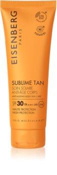 Eisenberg Sublime Tan Soin Solaire Anti-Âge Corps слънцезащитен крем за тяло с противбръчков ефект SPF 30