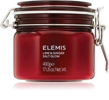 Elemis Body Exotics Lime and Ginger Salt Glow stimulirajući piling za tijelo