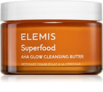 Elemis Superfood AHA Glow Cleansing Butter čisticí pleťová maska pro rozjasnění pleti