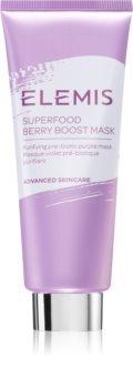 Elemis Superfood Berry Boost Mask mélytisztító maszk a matt arcbőrért