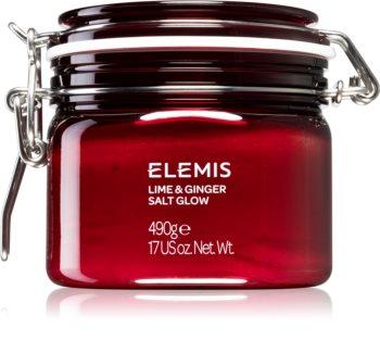 Elemis Body Exotics Lime and Ginger Salt Glow povzbuzující tělový peeling