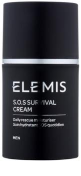 Elemis Men S.O.S. Survival Cream creme de dia protetor e hidratante para pele sensível e irritada
