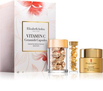Elizabeth Arden Ceramide Vitamin C Capsules козметичен комплект (за озаряване на лицето)