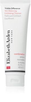 Elizabeth Arden Visible Difference Skin Balancing Exfoliating Cleanser peeling hab normál és kombinált bőrre