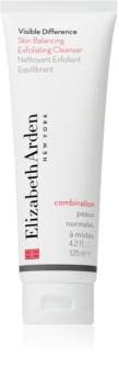 Elizabeth Arden Visible Difference Skin Balancing Exfoliating Cleanser spuma exfolianta pentru fata pentru piele normală și mixtă