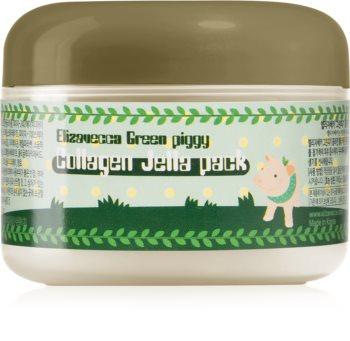 Elizavecca Green Piggy Collagen Jella Pack zpevňující kolagenová maska pro intenzivní obnovení a vypnutí pleti