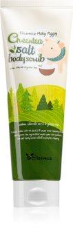 Elizavecca Milky Piggy Greentea Salt Body Scrub очищающий пилинг для тела с зеленым чаем