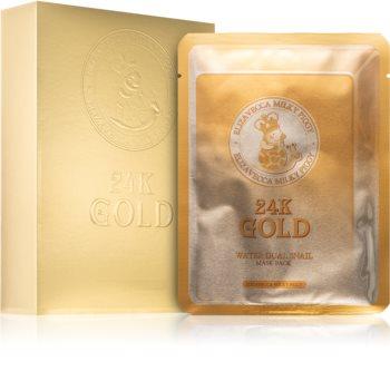 Elizavecca Milky Piggy 24K Gold Water Dual Snail Mask hydratační plátýnková maska s 24karátovým zlatem