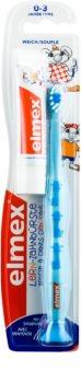 Elmex Caries Protection Kids escova de dentes suave para crianças + mini pasta de dentes