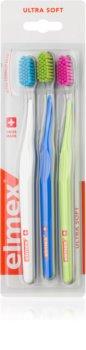 Elmex Swiss Made Toothbrushes, 3 pcs Ultra Soft