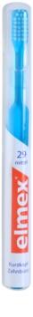Elmex Caries Protection 29 Zahnbürste mit geraden Fasern und kurzem Kopf Medium