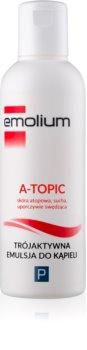 Emolium Body Care A- topic émulsion pour le bain effet triple