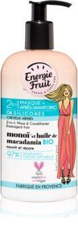 Energie Fruit Monoi maska 2 v 1 pre poškodené vlasy