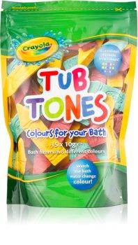 EP Line Crayola Tub Tones Colourful Fizzy Bath Tablets