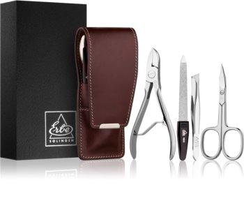 Erbe Solingen Manicure conjunto para uma  manicure perfeita em castanho