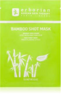 Erborian Bamboo maska odżywcza w płacie o działaniu nawilżającym