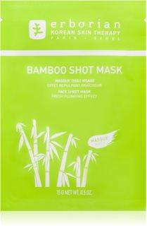Erborian Bamboo masque nourrissant en tissu pour un effet naturel