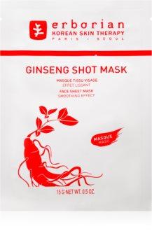 Erborian Ginseng Shot Mask plátýnková maska s vyhlazujícím efektem