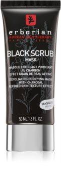 Erborian Black Scrub Mask reinigende Exfoliationsmaske für das Gesicht