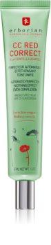 Erborian CC Red Correct CC krém proti začervenání pleti SPF 25