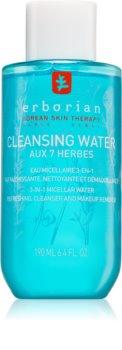 Erborian 7 Herbs Cleansing Water micellás víz normál és száraz, érzékeny bőrre 3 az 1-ben