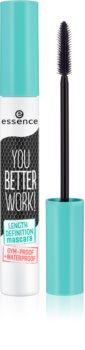Essence You Better Work! Wimperntusche für voluminöse und definierte Wimpern