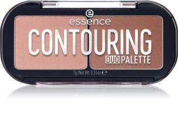 Essence CONTOURING DUO PALETTE paleta za konture obraza