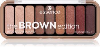 Essence The Brown Edition palette de fards à paupières