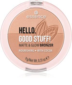 Essence Hello, Good Stuff! Matte & Glow poudre bronzante