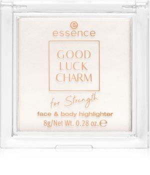 Essence Good Luck Charm For Strength rozjasňovač na obličej a tělo