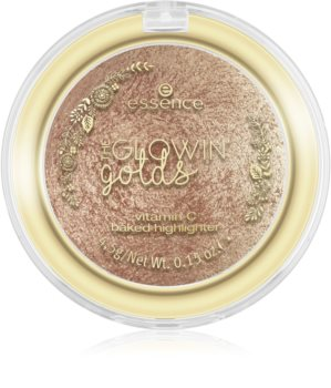 Essence The Glowing Golds poudre illuminatrice cuite