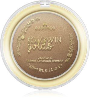 Essence The Glowing Golds třpytivý bronzující pudr