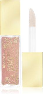 Essence The Glowing Golds brillant à lèvres nourrissant à paillettes