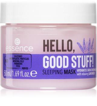 Essence Hello, Good Stuff! nawilżająca maseczka na noc