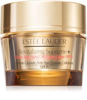 Estée Lauder Revitalizing Supreme + Global Anti-Aging Cell Power Creme SPF 15 Multi-Purpose Anti-Wrinkle Cream with Moringa Extract SPF 15