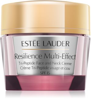 Estée Lauder Resilience Multi-Effect Tri-Peptice Face and Neck Creme SPF 15 Intensive Nourishing Cream for Dry Skin