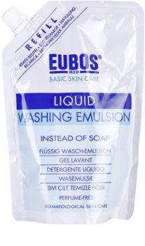 Eubos Basic Skin Care Blue émulsion lavante sans parfum recharge